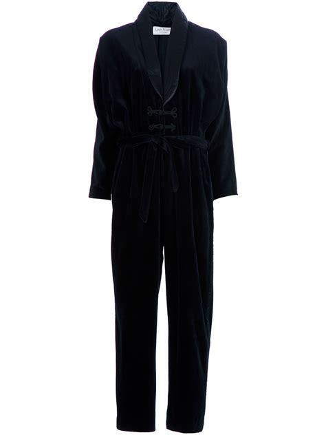 retro jumpsuit louis feraud vintage jumpsuit in black lyst