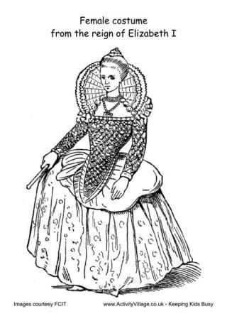 Tudor Fashion Worksheets Elizabethan Male Costume