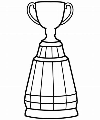 Trophy Cup Coloring Grey Bowl Super Pages