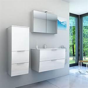 Badezimmermöbel Weiß Hochglanz : badm bel set gently 2 v2 l hochglanz wei badezimmerm bel waschtisch 80cm ~ Frokenaadalensverden.com Haus und Dekorationen