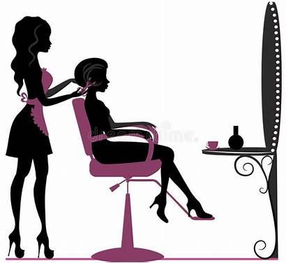 Salon Beauty Silhouette Vector