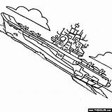 Carrier Aircraft Ship Coloring Battleship Boat Drawing Kuznetsov Submarine Navy Naval Speedboat Sailboat Getdrawings Thecolor Class sketch template