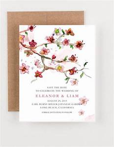 japanese floral garden save the date bridal shower With wedding shower save the date