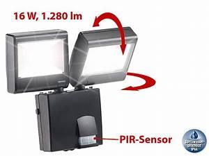 Led Außenstrahler Mit Bewegungsmelder Test : luminea strahler duo led au enstrahler mit pir sensor 16 watt lm ip44 fluter ~ Buech-reservation.com Haus und Dekorationen