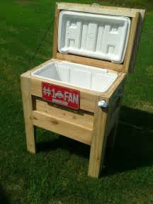 white outdoor wooden cooler diy projects