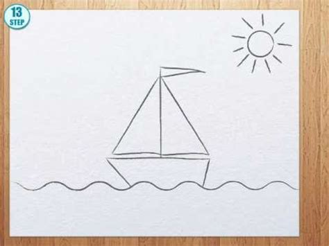 How To Draw A Keelboat by How To Draw A Boat Step By Step Youtube