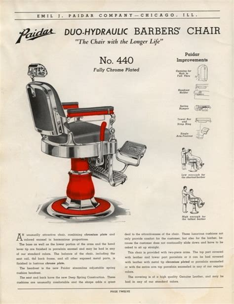 paidar barber chair hydraulics paidar barber shop equipment catalog no 49 on cd barber
