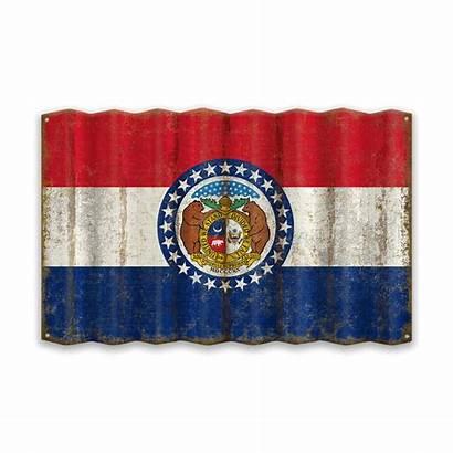 Missouri Flag State Corrugated