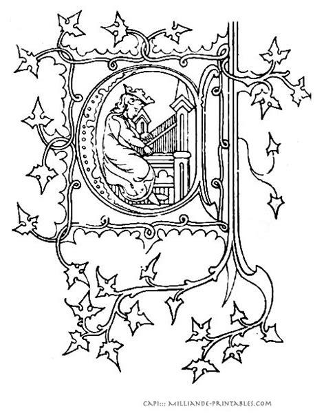 Illuminated Alphabet Templates by Illuminated Manuscript Letters Printable Alphabet