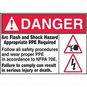 arc flash and shock hazard appropriate ppe required label With arc flash and shock hazard