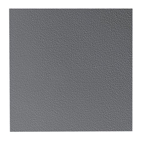 Rubber Vinyl Flooring Home Depot by Roppe Hammered Pattern 19 69 In X 19 69 In Charcoal