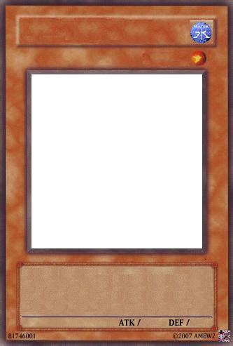 yugioh card template water  dream raccoon  deviantart