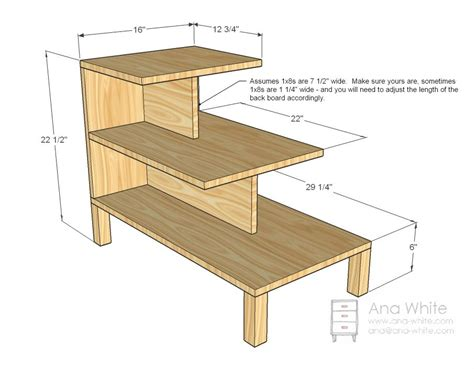 ana white build  step  side table   easy diy