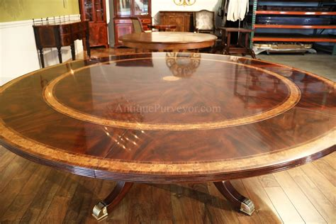 Large Round Dining Room Tables Large Round Mahogany Dining