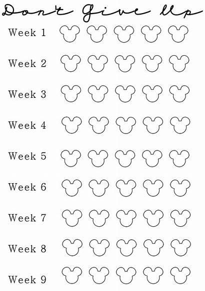 Loss Weight Countdown Printable Calendar Week Challenge