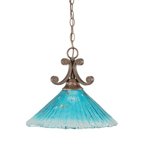 teal glass pendant filament design 1 light bronze pendant with teal crystal