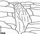 Dibujos Rocas Lagunas Rotsen Cascata Waterval sketch template