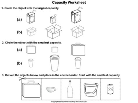 comparing capacity  volume animated powerpoint