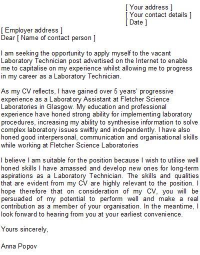 100 laboratory technician resume