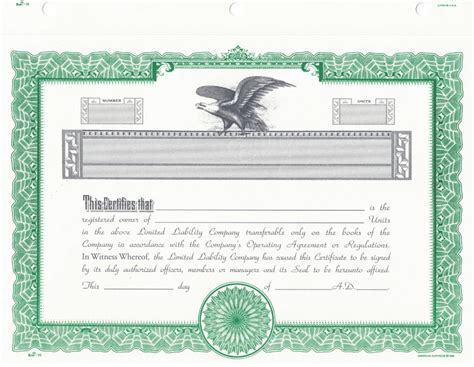 blank stock certificate  printable documents