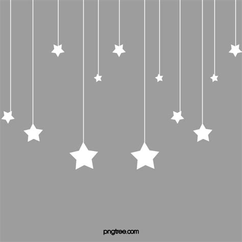 hanging stars png vector psd  clipart