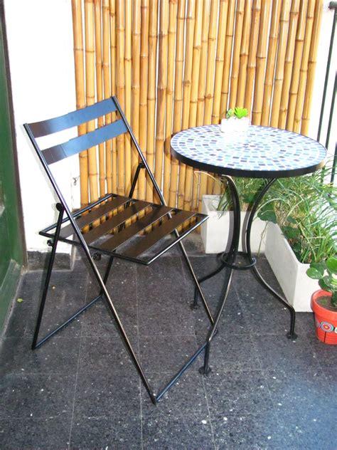 juego de mesa  silla  balcon  jardin forjados en