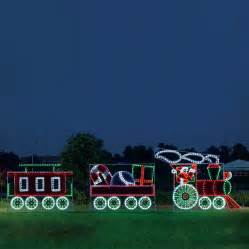 shop holiday lighting specialists 10 ft animated santa s train outdoor christmas decoration with