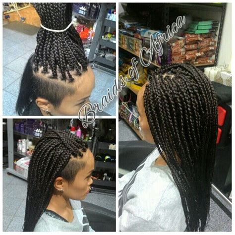 box braids hair extensions  shaved sides  fave