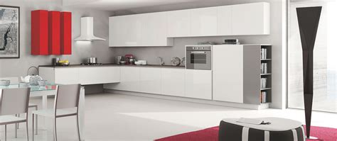 moderna cuisine linear kitchen with minimalist design and wood finishes