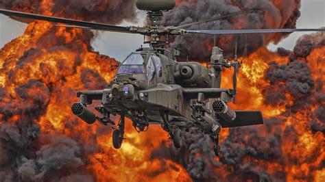 wallpaper boeing ah  apache attack helicopter gunship