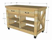 how to build a kitchen island Ana White   Rustic X Kitchen Island - Double - DIY Projects