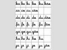 silabas moveis letra cursiva