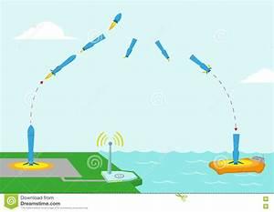 Different Stages Diagram Of A Reusable Rocket Concept