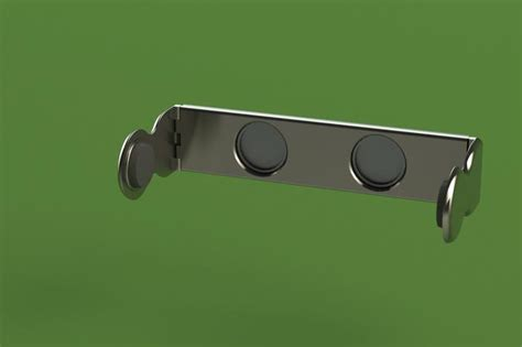 collapsible magnetic paper towel holder stl step iges solidworks  cad model grabcad
