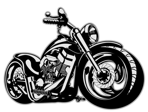 Vintage Motorcycle Illustration Design Vector 02 Free Download