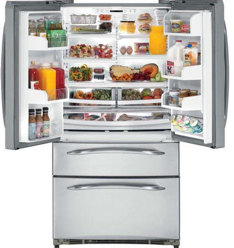 ge pgssnfyss  cu ft bottom double drawer freezer refrigerator  french doors