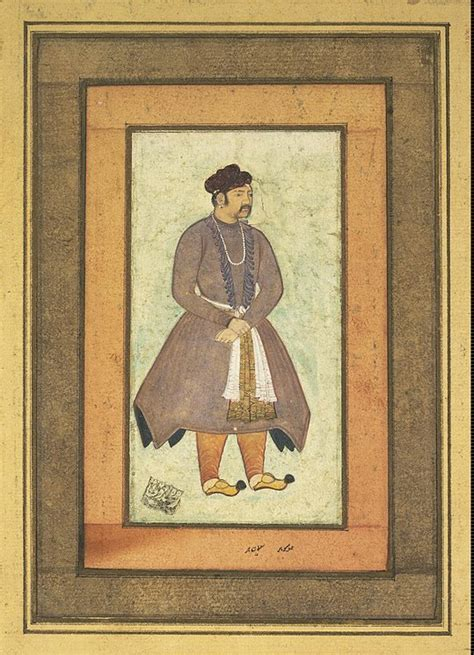 portrait  akbar  great manokhar hermitage museum