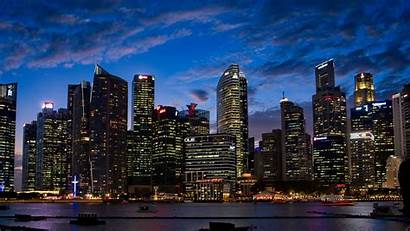 4k Lights Buildings Wallpapers Resolution Night Backgrounds