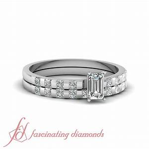 Certified Emerald Cut VS1 Diamond Engagement Rings And ...