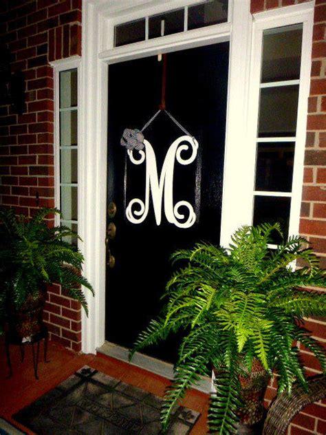 Initial Monogram Front Door Wreath  From Housesensations