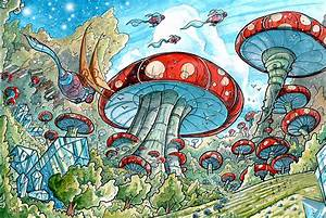 Magic Mushroom Forest Greeting Card for Sale by Luis Peres