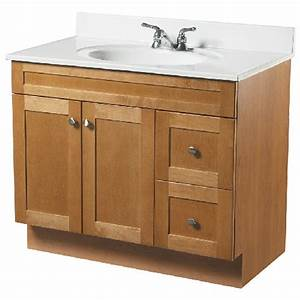 meuble lavabo 2 portes et 2 tiroirs rona With lavabo et meuble