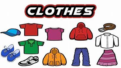 Vocabulary Clothes English Esl Clipart Toddler Learning