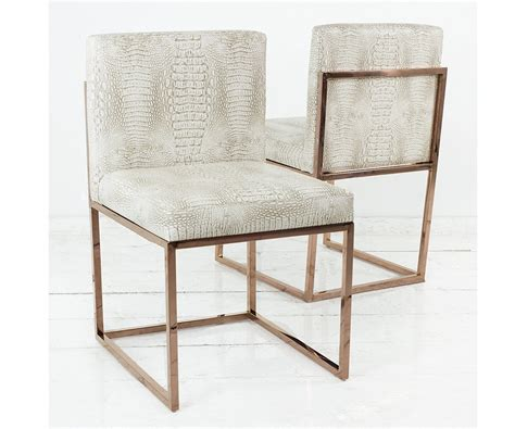 007 dining chair with gold frame modshop