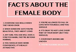 8 facts about the female body – Fashion in my eyes