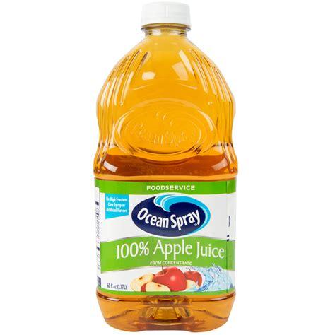 Ocean Spray 60 oz. 100% Apple Juice - 8/Case