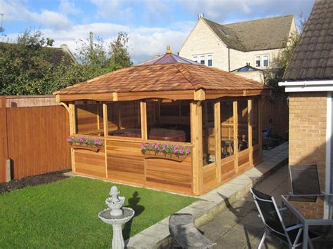 These hot tub gazebo and hot tub enclosure ideas provide more than enough fodder to get your design ideas flowing! Hot Tub Enclosures, Hot Tubs Gazebo for an Island Escape Spa or Balboa hot tub
