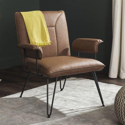 safavieh armchair safavieh johannes bicast leather armchair colors
