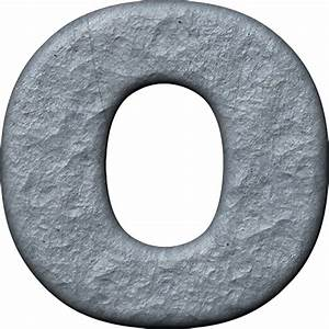 presentation alphabets rough metal letter o With metal letter o