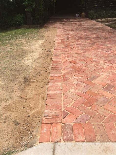 brick driveway recycled canberra red brick driveway canberra red brick driveway pinterest brick driveway